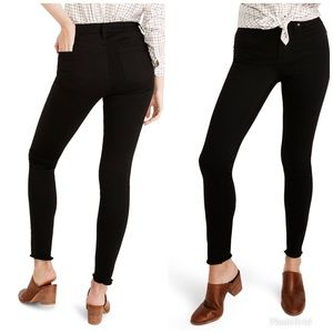 """Madewell 9"""" High-Rise Skinny Jeans Carbondale Wash"""